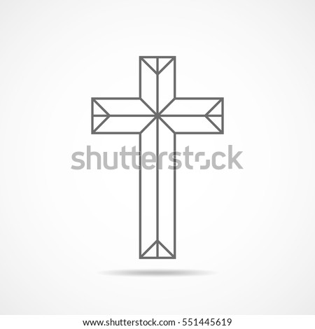 black christian cross icon