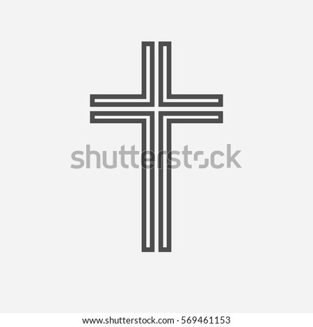 black christian cross icon