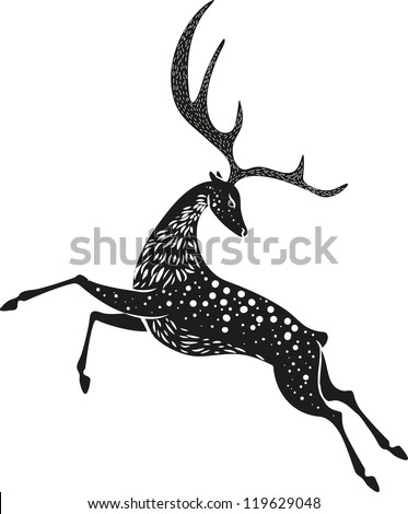 Black Christmas deer