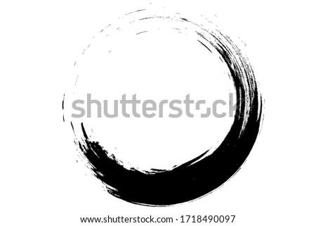 black circel  paint brush  texture