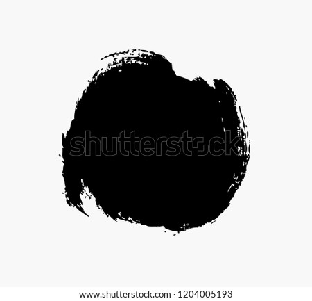 black circle vector grunge background