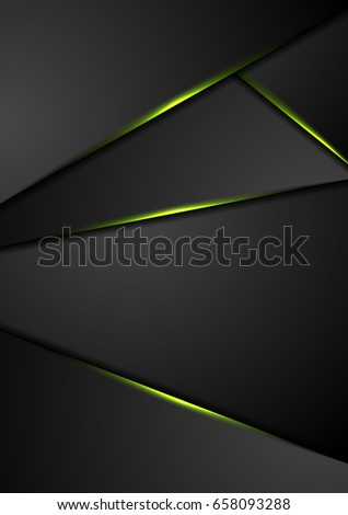 black corporate background with