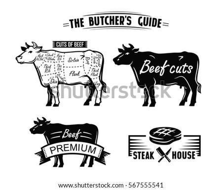 black cow symbol vector