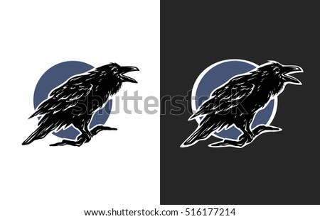 black crow  two options symbol