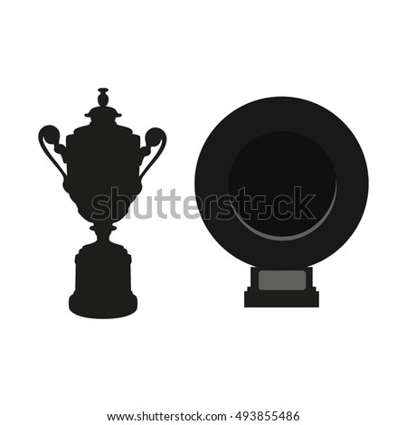 black cup and dish isolated on