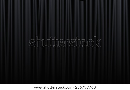 Black curtain from the theater with