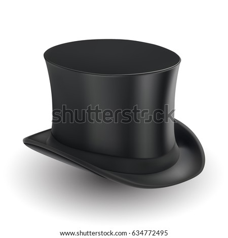 5bf18d218c96a ... background Black cylinder hat. Isolated on white background. Vector  illustration.