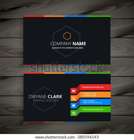 black dark business card