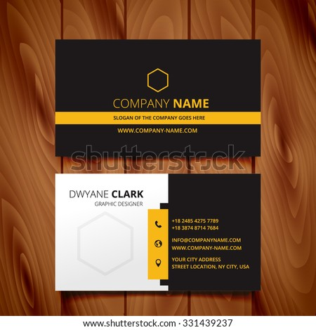 black dark business card modern