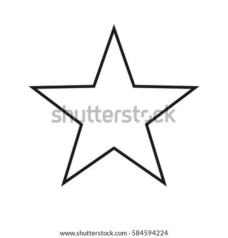 Black dark grey gray outline star rating favorite bookmark button icon symbol sign trendy isolated minimalistic simple flat design vector illustration on a white background
