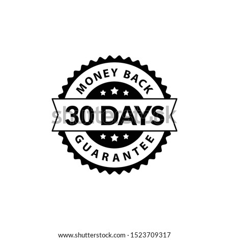 Black 30 Days Money Back Guarantee editable color Сток-фото ©