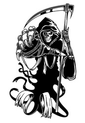 Black death with scythe for halloween or horror concept. Jpeg version also available in gallery