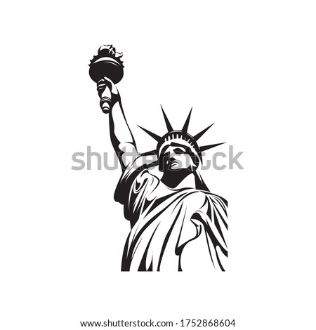 black decorative liberty logo vector illustration