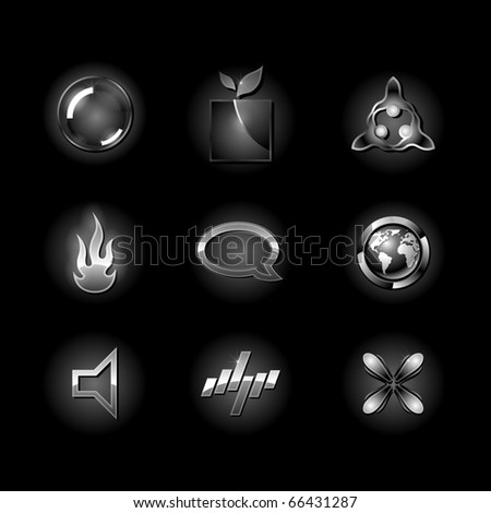 Black design elements. Clean style of concept business symbol. - stock vector