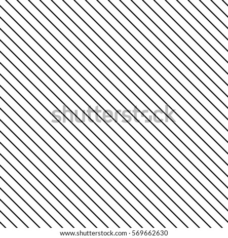 Black diagonal lines. Striped wallpaper. Seamless surface pattern design with symmetrical linear ornament. Stripes motif. Digital paper for page fills, web designing, textile print. Vector art.