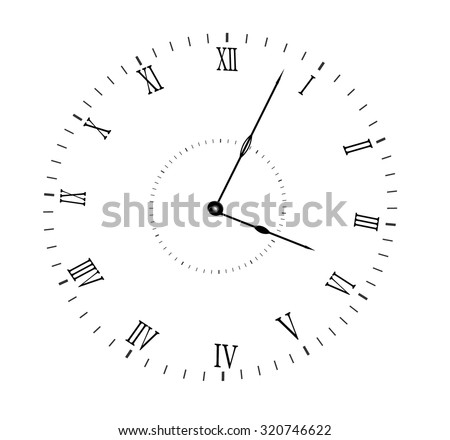 black dial on white background