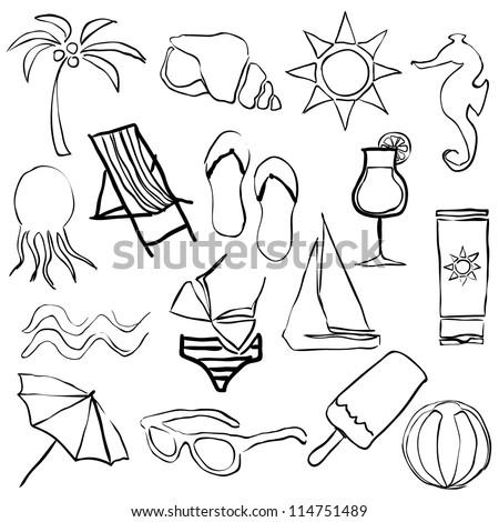 black doodle beach images