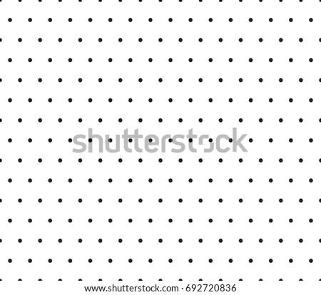 Black Dots Pattern. Vector Seamless Pattern.