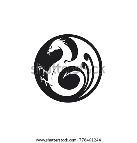 black dragon circle logo