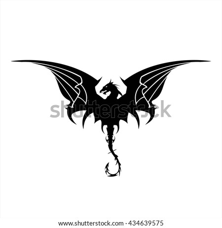 black dragon  dragon  spreading