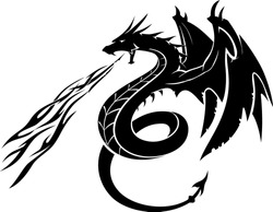 Black Dragon Side View