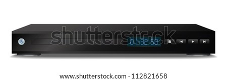 Black dvd player. Vector illustration