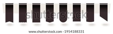 black empty hanged bookmark tag
