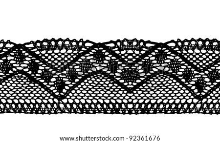 Black endless lace stripe