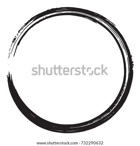 black enso zen brush
