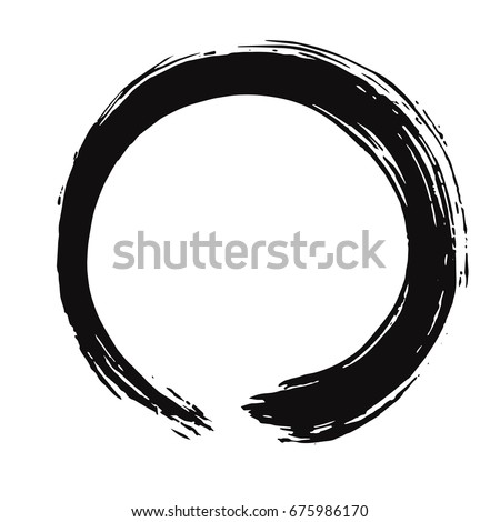 black enso zen vector brush