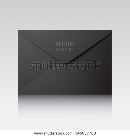 Black envelope. Vector envelope isolated on a background.