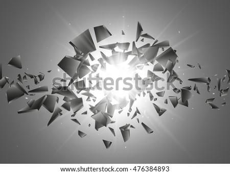 black explosion background