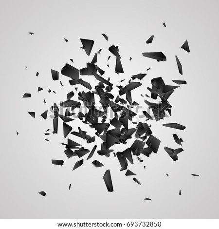 black explosion on white