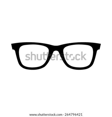 Black Eye Glasses Hipster Style Frames vector icon