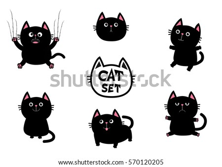 black fat cat set nail claw