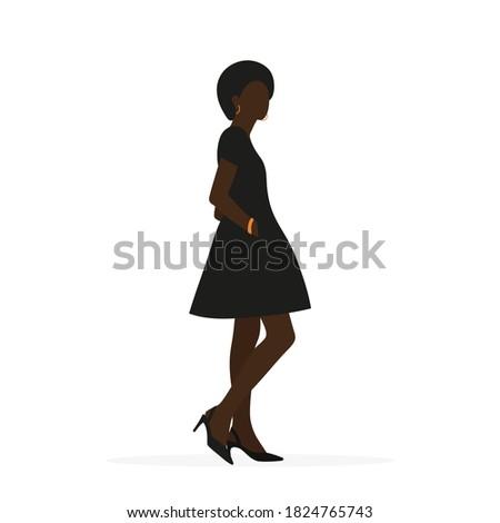 black female character in dress