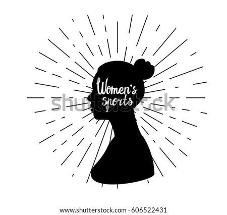 black female silhouette side