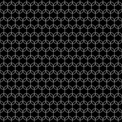 Black figures tessellation on white background. Image with oval and hexagonal shapes. Ethnic mosaic tiles motif. Ancient seamless surface pattern design with interlocking circular oriental ornament.