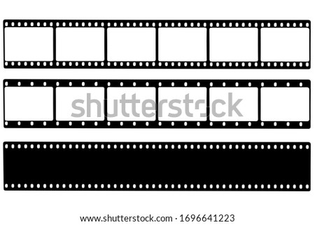 Black film strip icon in isolate on a white background. Vector illustration. Photo stock ©