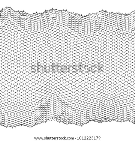 black fisherman rope net vector ...