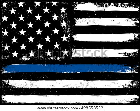 black flag with police blue