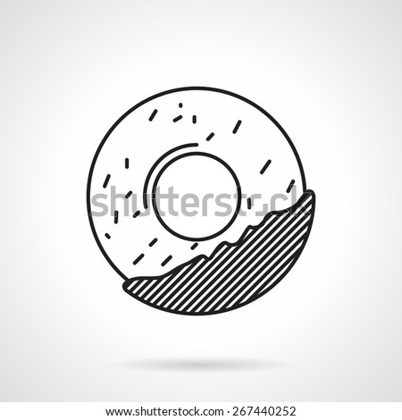 black flat line icon for circle