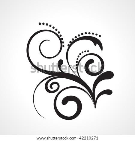 flower pattern tattoo. floral pattern tattoo on