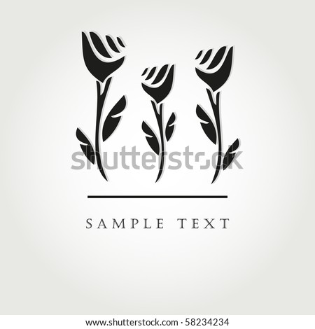 black flowers vector