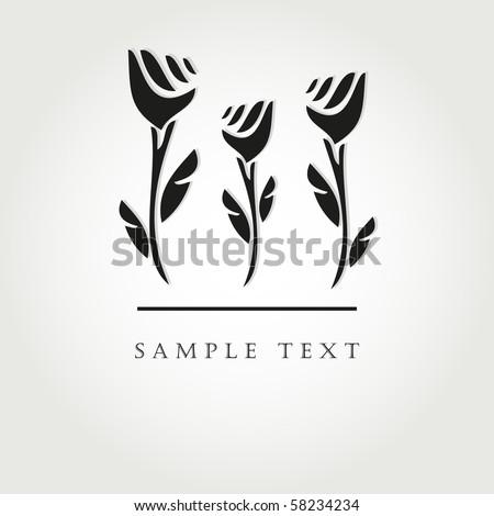 black flowers vector