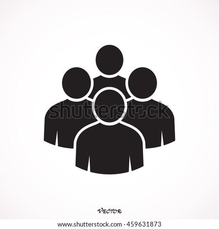 Black four people (man figure) Graphic design elements save in vector illustration