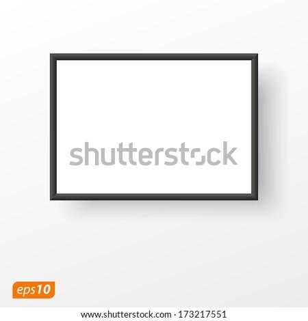 black frame on white plane with