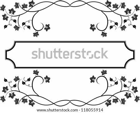 Black frame with leaves