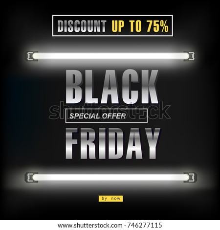 black friday  big sale  neon