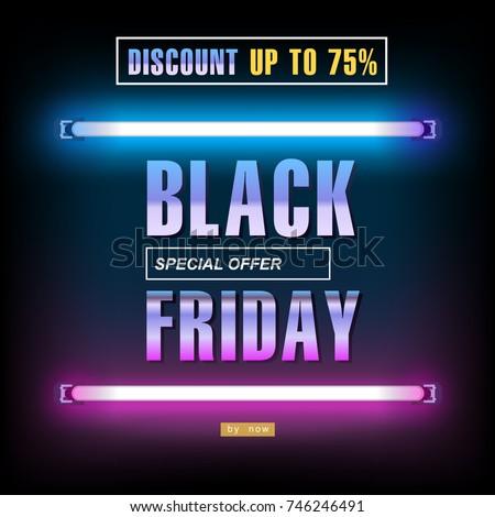 black friday  big sale  neon